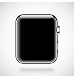 Modern shiny smart watch isolated on white vector image