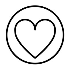 monochrome contour circular with heart icon inside vector image