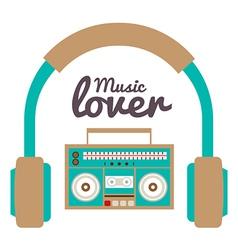 Music lover vector
