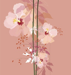 natural flowers bouque vector image
