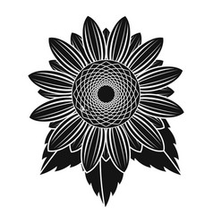 Natural sunflower icon simple style vector