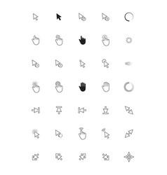 navigation cursor computer web arrows icons vector image