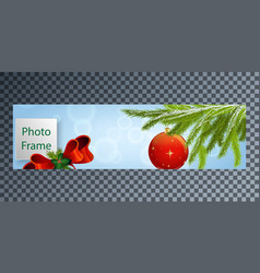 New years cover for facebook with pozdichnym vector