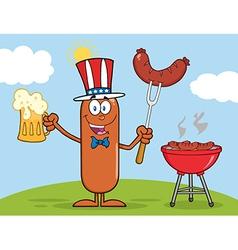 Patriotic Sausage Cartoon vector image