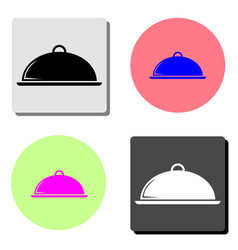 platter flat icon vector image