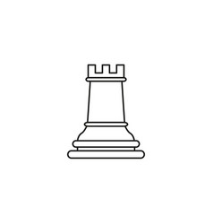 rook of chess icon the toy success vector image