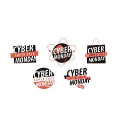 Sale concept cyber monday label vector