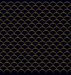 seamless antique waves pattern vector image