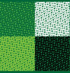 Shamrock patterns vector
