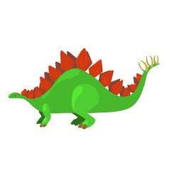 Stegosaurus icon cartoon style vector