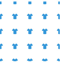 t shirt icon pattern seamless white background vector image