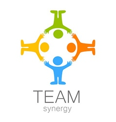 team synergy logo vector image