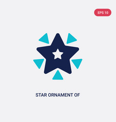 two color star ornament triangles icon from vector image