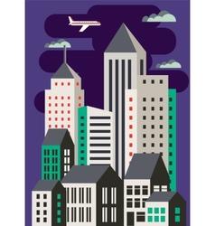 Urban flat style vector image