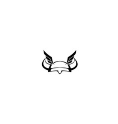 viking-helmet-wings-logo vector image