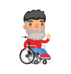 Wheelchair user man vector