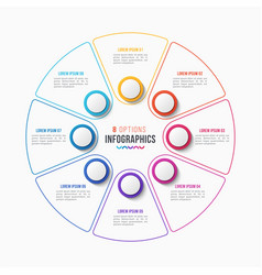 8 parts infographic design circle chart vector
