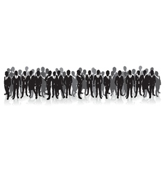 business people in a row vector image vector image