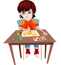 child painting vector image
