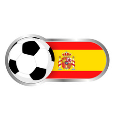 spain soccer icon vector image vector image