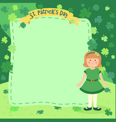 st patrick day girl notes vector image vector image
