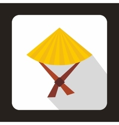 Vietnamese hat icon flat style vector image vector image