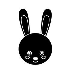 cute animal rabbit head baby vector image