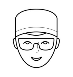 Dentist doctor icon vector