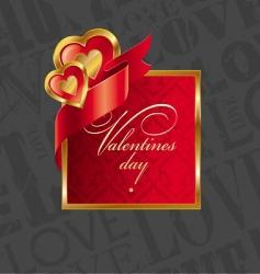 golden luxury hearts frame vector image