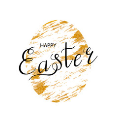 happy easter lettering egg vector image vector image