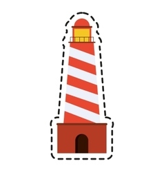 Isolated lighthouse icon design vector