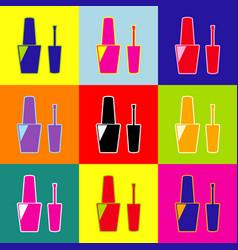 nail polish sign pop-art style colorful vector image vector image