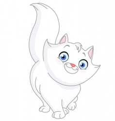 white cat vector image vector image