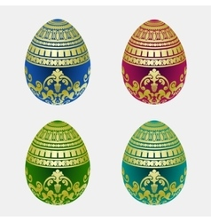 Decorative easter egg colection vector image