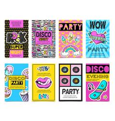 fashion patch badges banner set vector image