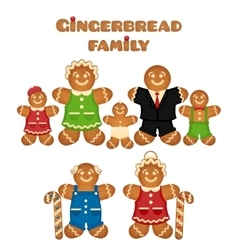 Gingerbread family vector image vector image