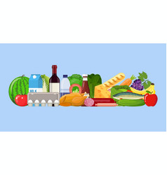 grocery set product vector image vector image