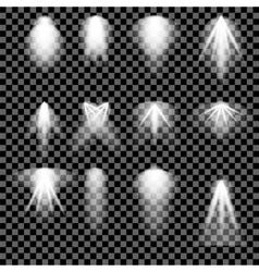 Concert Lighting Stage Spotlights Background vector image
