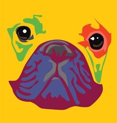 Nice color bulldog art print vector
