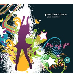 popart background vector image vector image