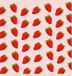 strawberry fruit seamless pattern vector image