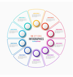10 parts infographic design circle chart vector image
