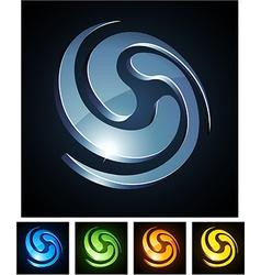 3d swirl emblems vector