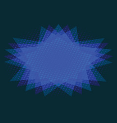 Abstract background of blue star vector