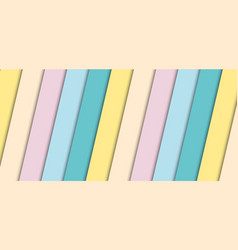 abstract banner pastel stripes diagonal pattern vector image
