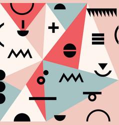 abstract minimal geometrical modern memphis vector image