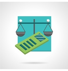 Accountancy abstract flat icon vector image