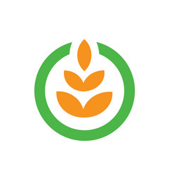 agriculture farming logo vector image