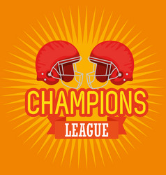 american football champions league vector image