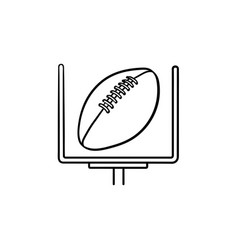 american football goal hand drawn outline doodle vector image